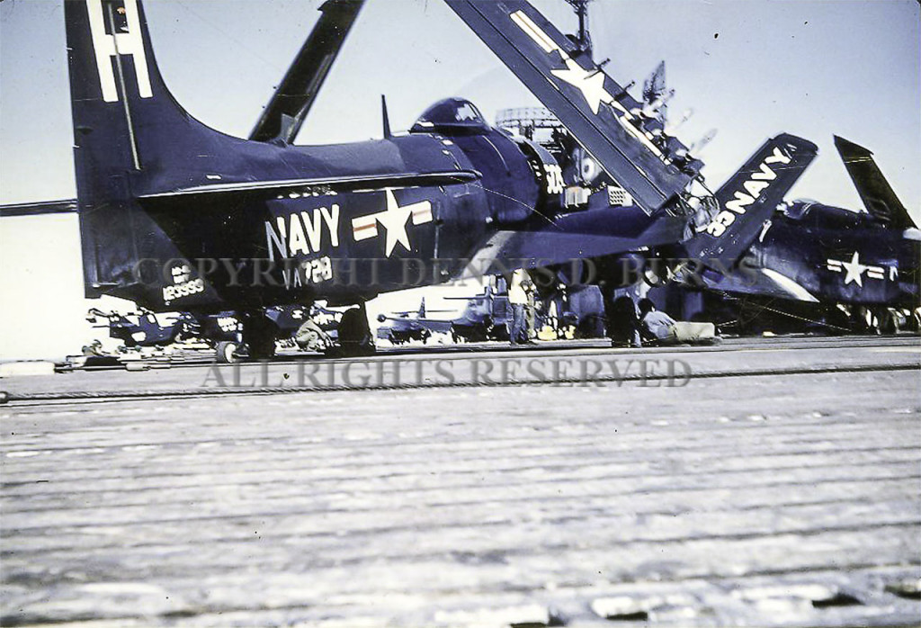 Skyraider Prior to Crash Aboard USS Antietam as Smart Object-1