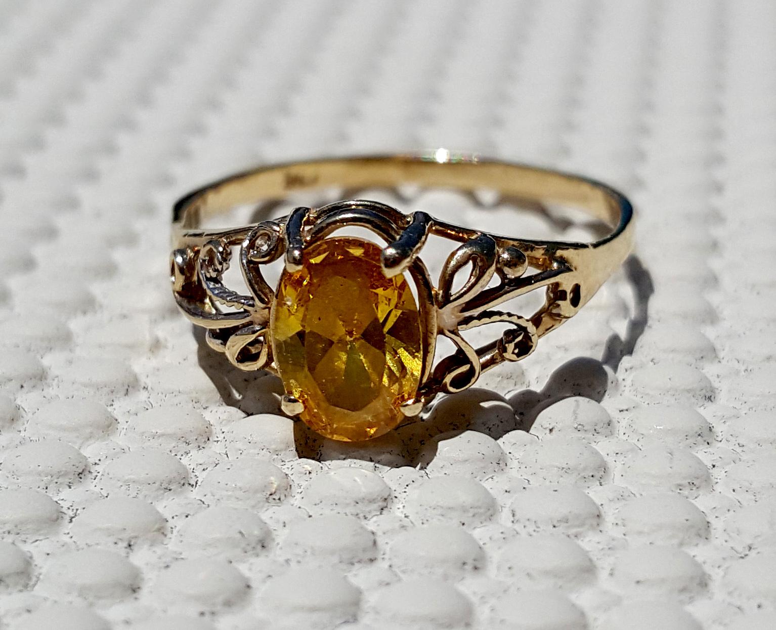 Yellow Stone Ring